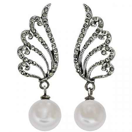 cercei-deosebiti-eleganti-lungi-argint-antichizat-aripi-marcasite-perle-janette [0]