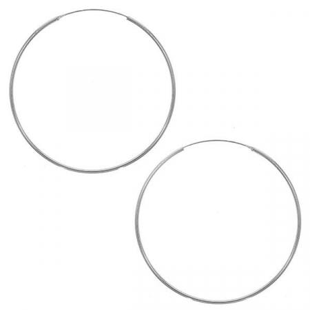 Cercei rotunzi maxi din argint [2]