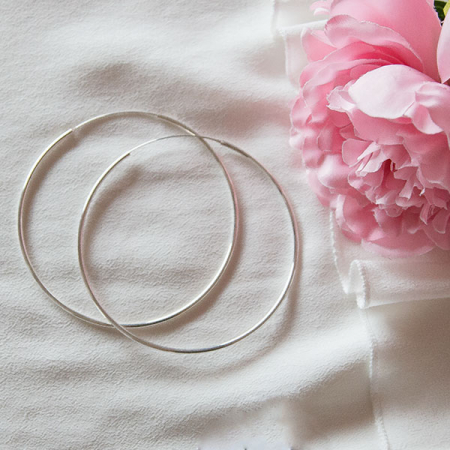 Cercei rotunzi maxi din argint [0]