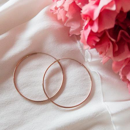 Cercei rotunzi mărime medie din argint placat cu aur rose [2]