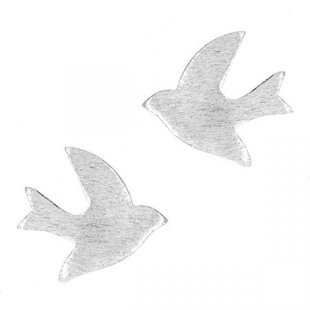 Cercei din argint pe lob cu păsări [0]