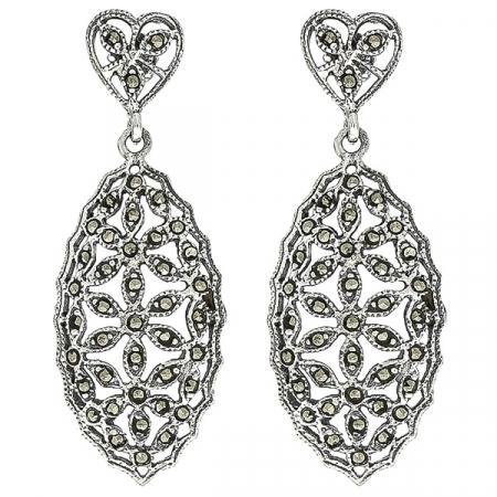 Cercei Argint VintageFlowers [0]
