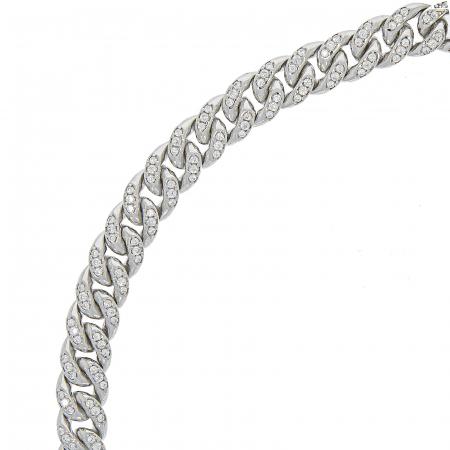 Colier argint rodiat cu zale împletite și zirconii [5]