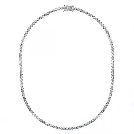 Colier tennis din argint rodiat cu zirconii rotunde [2]