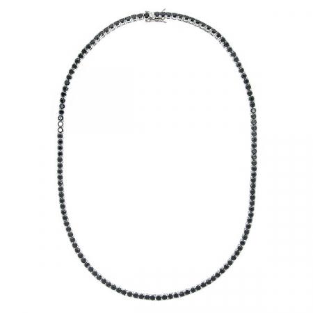 colier-argint-tennis-zirconii-rotunde-negre-janette [2]