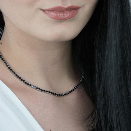 colier-argint-tennis-zirconii-rotunde-negre-janette [3]