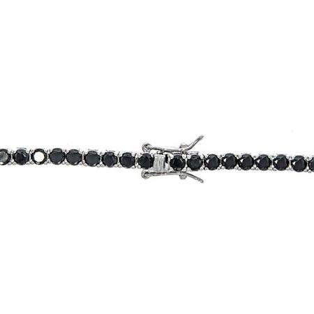 colier-argint-tennis-zirconii-rotunde-negre-janette [4]