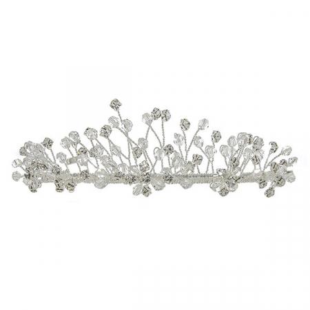 Diademă pentru mirese, cu cristale și perle [0]