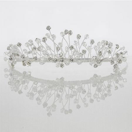 Diademă pentru mirese, cu cristale și perle [4]