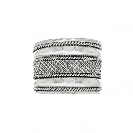 Inel stil verighetă din argint antichizat lat [0]