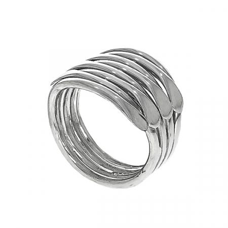 Inel stil verighetă argint lucios [0]