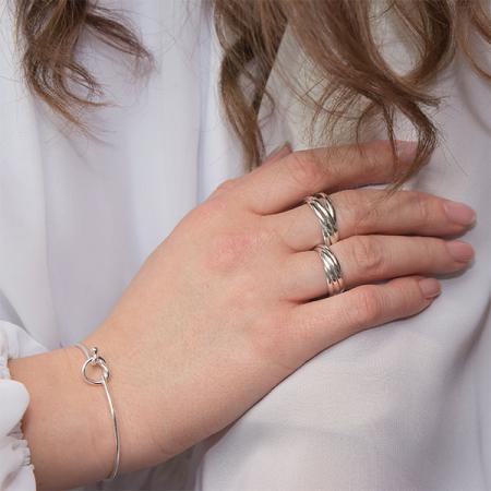 Inel din argint cu verigi intercalate [3]
