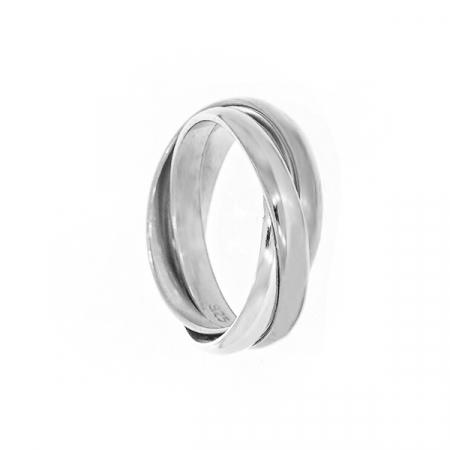 Inel din argint cu verigi intercalate [0]