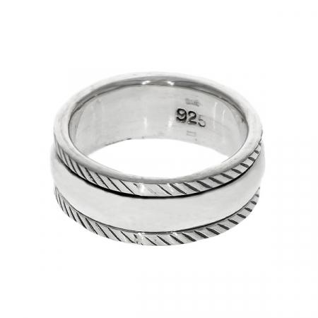 Inel antistres din argint simplu [0]