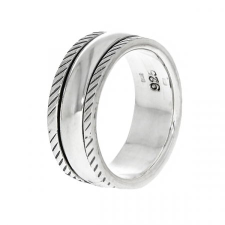 Inel antistres din argint simplu [3]