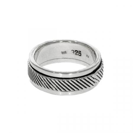 Inel antistres, din argint, model bărbătesc [1]