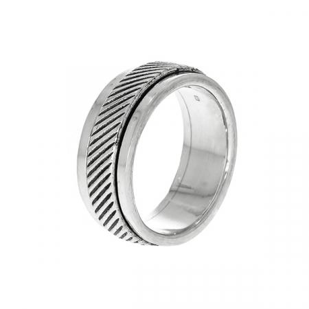 Inel antistres, din argint, model bărbătesc [2]