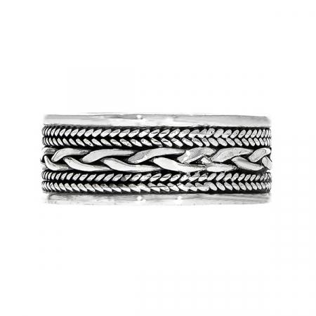 Inel din argint cu model antichizat [3]