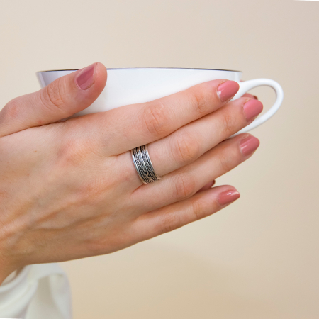 Inel din argint cu model antichizat [1]