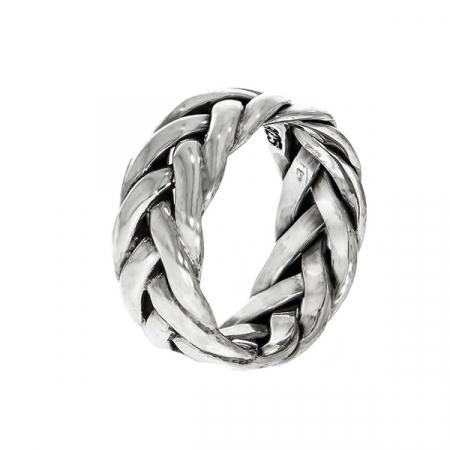 Inel împletit din argint antichizat [6]