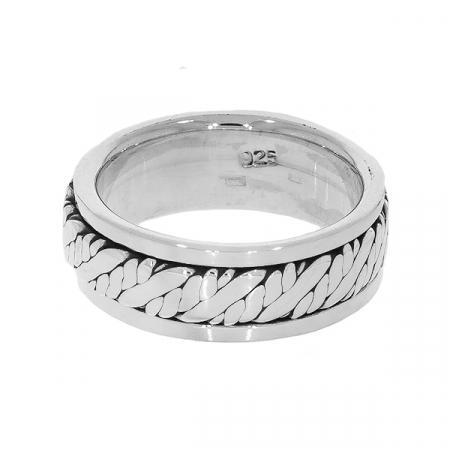 Inel verighetă pentru bărbați din argint [1]