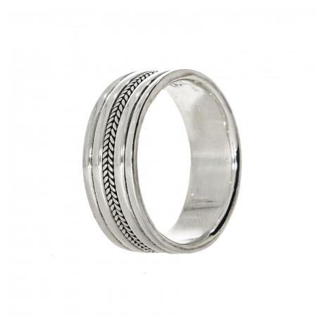 Inel din argint tip verighetă [0]