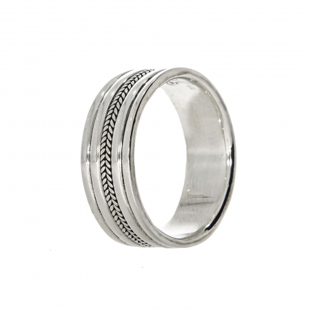 Inel din argint tip verighetă [5]
