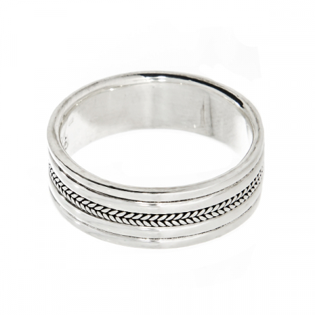 Inel din argint tip verighetă [4]