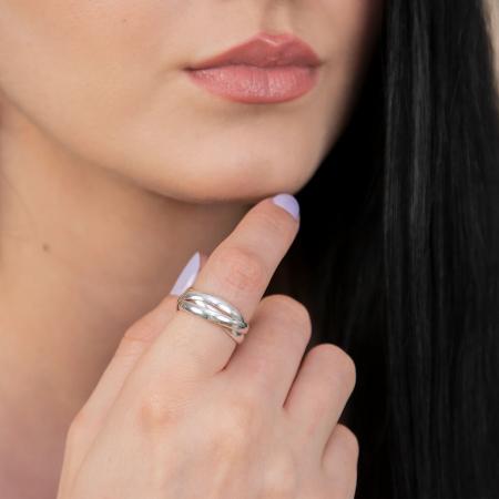 Inel din argint 925 cu verigi intercalate [1]