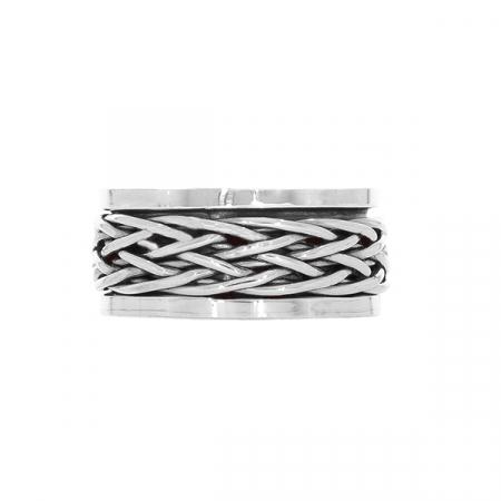 Inel bărbătesc din argint antistres [0]
