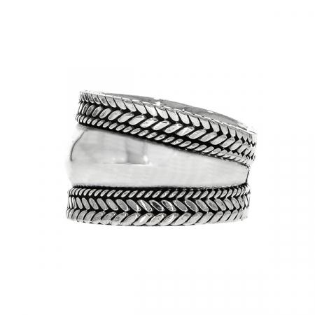 Inel argint 925 cu detalii antichizate [3]