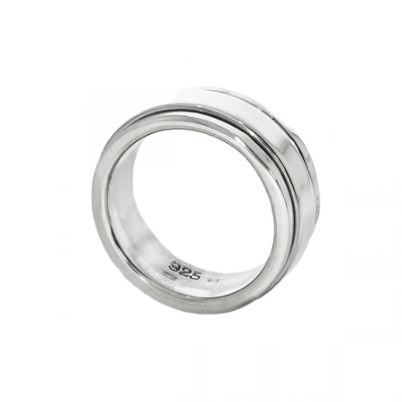 Inel verighetă antistres din argint [0]