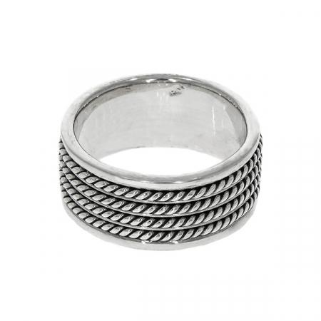 Inel din argint stil verighetă [2]