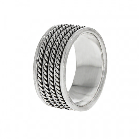 Inel din argint stil verighetă [3]
