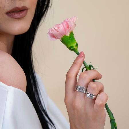 Inel din argint stil verighetă [1]