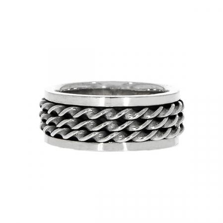 Inel bărbătesc, din argint masiv, model antistres [0]