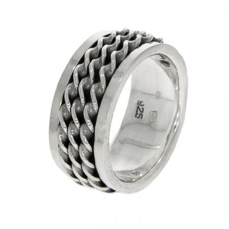 Inel bărbătesc, din argint masiv, model antistres [2]