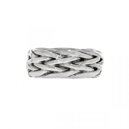 Inel verighetă, din argint, împletit [0]