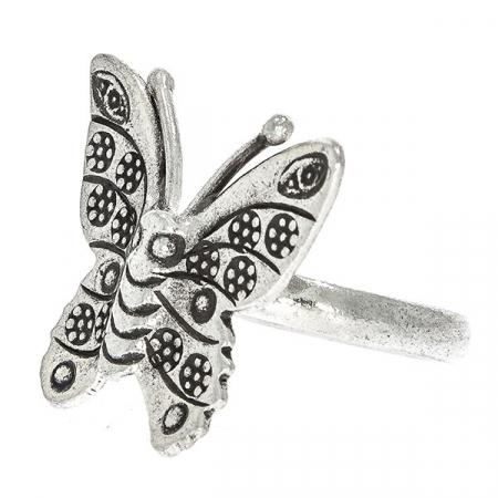 Inel din argint antichizat fluture [2]