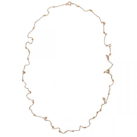 Lant argint placat cu aur rose si bilute [2]