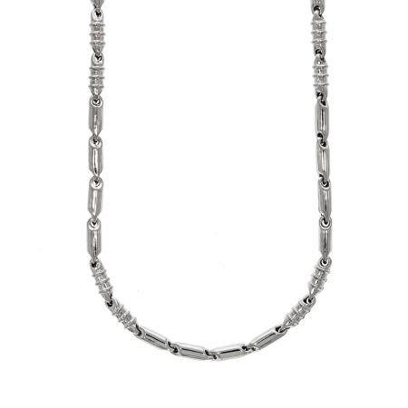 Lanț bărbătesc din argint cu elemente tubulare [2]