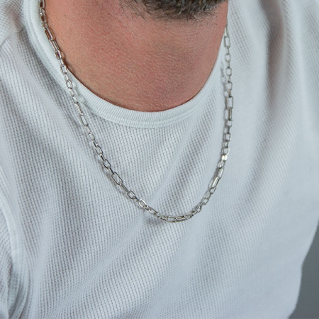 Lanț bărbătesc din argint cu zale model versace [2]