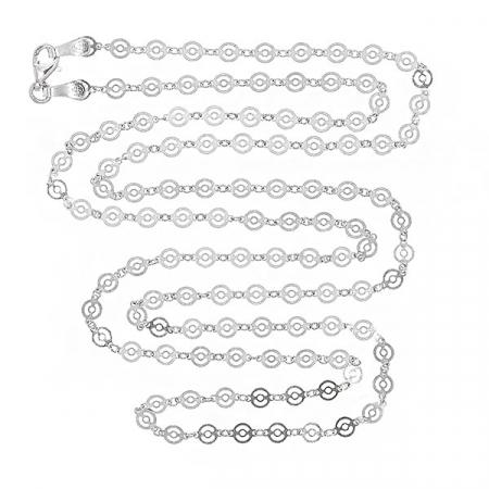 Lant cu banuti dantelati din argint rodiat [3]