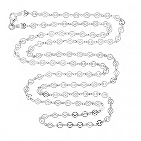 Lant cu banuti dantelati din argint rodiat [0]
