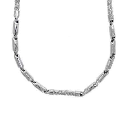 Lanț din argint pentru bărbați cu elemente tubulare electroformate [1]