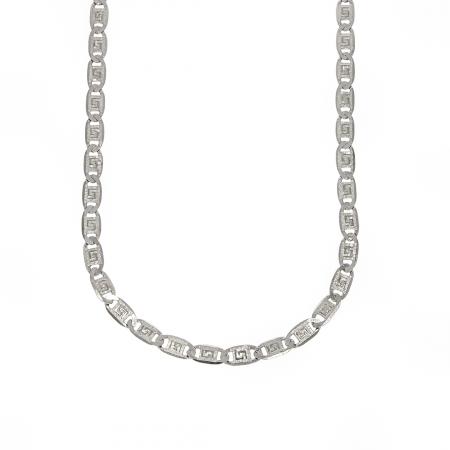 Lanț bărbătesc din argint elegant cu plăcuțe cu motive grecești [0]