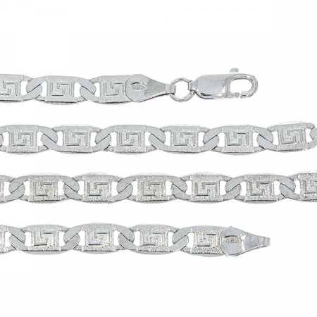Lanț bărbătesc din argint elegant cu plăcuțe cu motive grecești [1]