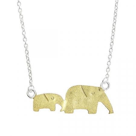 Lănțișor Argint Elefanți [0]