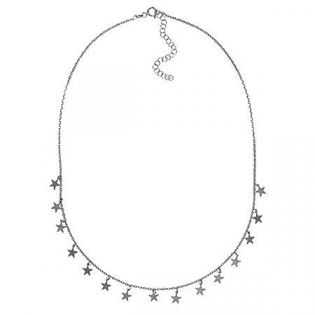 Lănțișor finuț din argint rodiat cu steluțe [3]