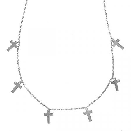 Lănțișor argint rodiat cu mini cruciulițe [0]